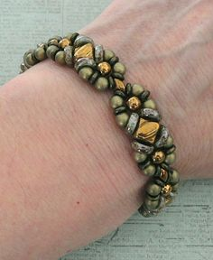 Linda's Crafty Inspirations: Bracelet of the Day: Wheely Pwetty - Suede Gold & Bronze