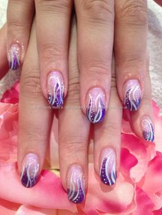 Freehand nail art   I'd get red & orange or blue & green