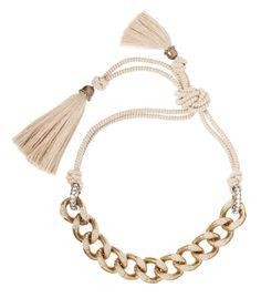 Lanvin Nude 'Veruschka' Tassel Necklace