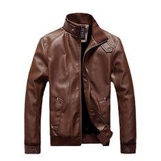 Bluetime Men's Casual High Neck Front Zipper Long Sleeve PU Leather Jacket Brown Bluetime http://www.amazon.com/dp/B0153BRK62/ref=cm_sw_r_pi_dp_S9cSwb1X1J1M8