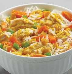YELLOW CURRY CHICKEN - Double Decker™ Microwaveable Bowl. This meal-in-a-bowl is only 290 calories per entrée and is ready in 7 minutes! #mmmeatshops