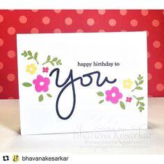 #Repost @bhavanakesarkar with @repostapp ・・・ One layer birthday card. Used Simon…