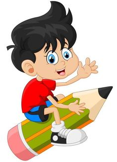 Vector Clipart - Cartoon Characters For Preschool School Cartoon, Cartoon Boy, Kids Study, Art For Kids, School Frame, School Images, Boy Illustration, Grande Section, School Clipart