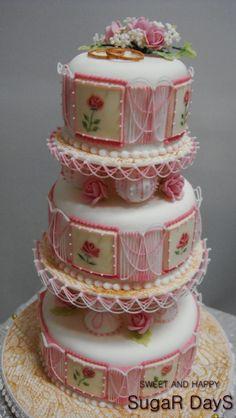 Mini Wedding Cake 2012  Tokyo Sugar Art Mini Wedding Cake Contest 2021 Gold Medal