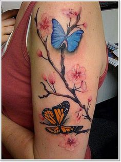 The 100 Most Attractive Butterfly Tattoo Designs