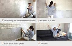 Easy Peel and Stick 3D Wall Panels