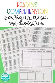 Weathering and Erosion Reading Passage with Digital Student Pages Teaching Skills, Primary Teaching, Teaching Science, Teaching Resources, Earth Science Lessons, Earth And Space Science, Middle School Writing, Middle School Science, Social Studies Classroom