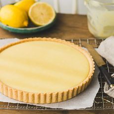 A traditional French-style lemon tart with creamy, dreamy lemony filling.