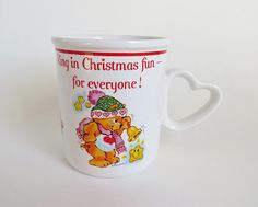 Care Bear Mug Vintage Christmas Care Bear Mug American