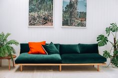 Pop & Scott Dreamer Couch in Emerald Green  Image by Bobby + Tide