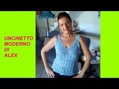 TOP ESTIVO all'uncinetto OGNI TAGLIA tutorial PARTE I - YouTube