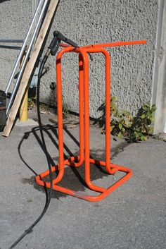 Check out this stand we powder coated Safety Orange. Looks great! |Durable Powder Coating