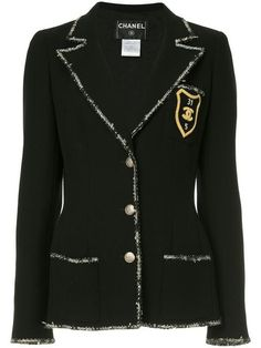 b11d49a8ce Shop Chanel Vintage patch detail blazer Shopping Chanel, Chanel Fashion,  Women's Fashion, Fashion