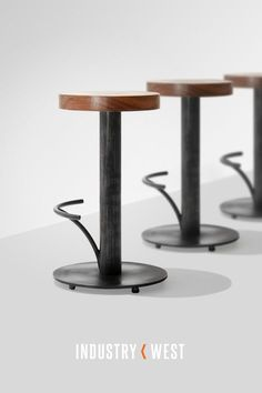 An exclusive design for Industry West, Slab Bar Stool is industrially raw, yet designed with sleek lines. The stool features a solid rainwood seat and a substantial heavy duty weighted iron base making this piece perfect for commercial use.