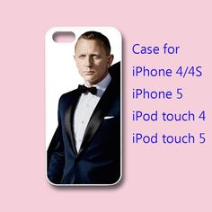 Skyfall 007 , James Bond, iphone 4 case and iphone 5 case in durable black or white plastic or silicone