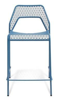 Blu Dot Hot Mesh Counterstool, Simple Blue