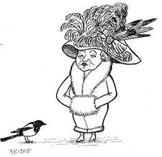 Huono lintu seuj, jokei jaksah höyhenijään kantaa (Lappajärvi). Piirros: Juhani Korpi