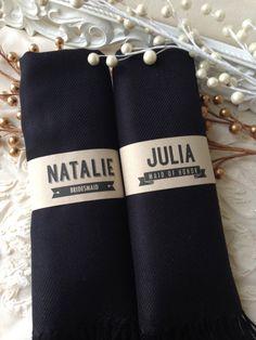 Set of 5 Black Shawls, Pashmina, Scarf, Shawl, Wedding Favor, Bridal Shower Gift, Bridesmaids Gift, Wrap, Welcome Bags & More on Etsy, $67.75