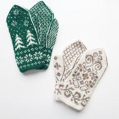 Knitted mittens knitting patterns available on Ravelry / Strikkeoppskrift for grantrevotter og selbuvotter på Ravelry Knitwear, Knitting Patterns, Traditional, Crochet, Inspiration, Biblical Inspiration, Knit Patterns, Tricot, Chrochet