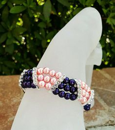 Kappa Epsilon Psi Military Sorority Bracelet Pink by SummerBeauti