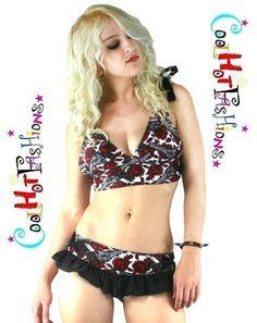 Too Fast Guns Roses Annabell Pinup Bikini Swim Suit Retro Punk Rockbilly | eBay