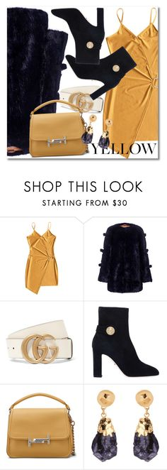 """Bodycon dress"" by laurafox27 ❤ liked on Polyvore featuring Shrimps, Gucci, Dolce&Gabbana and Tod's"