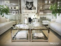 White and silver makes your livingroom elegant #tmdesign