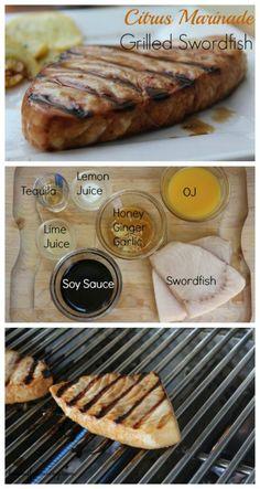 Citrus Marinade Grilled Swordfish Recipe on Having Fun Saving and Cooking.