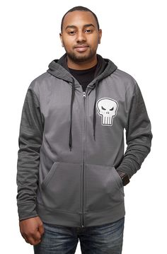 Punisher Space Dye Zip-Up Hoodie