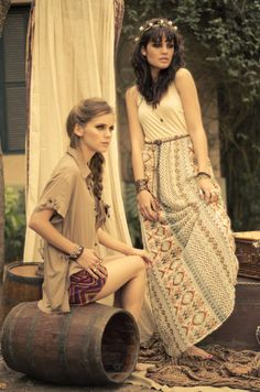 I'm in LOVE with the tribal patterned shorts and skirt! #vintage
