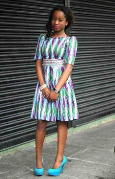 Diamond design ankara dress