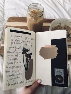 Journaling | #journal Bullet Journal Hacks, Life Journal, Tea Tag, Stationary Box, Types Of Journals, Glue Book, Planner Decorating, Creative Journal, Pretty And Cute