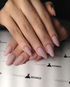 With 38 simple nail and manicure hacks, you should .- For 38 simple nail and manicure hacks, you should try Long Nails – # ManicureHacks # Nails - Nude Nails, Matte Nails, My Nails, Coffin Nails, Black Nails, How To Do Nails, Acrylic Nails Almond Matte, Almond Gel Nails, Matte Nail Colors