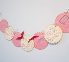Pink & Ivory Baby Shower Banner  Vintage Owl Theme by JessMadeThis, $14.00