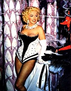 Marilyn at the Ringling Brothers Circus Charity Gala, Madison Square Garden, March 1955.
