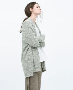 TWIST YARN CARDIGAN-Cardigans-Knitwear-WOMAN | ZARA United States
