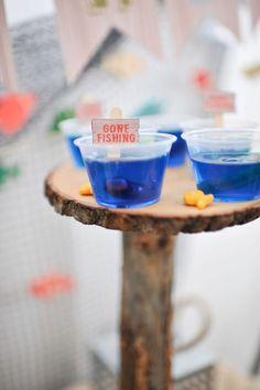 Jello Cups from a Gone Fishing Birthday Party via Kara's Party Ideas | KarasPartyIdeas.com (17)