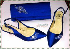 Zapatos y bolso con soutache