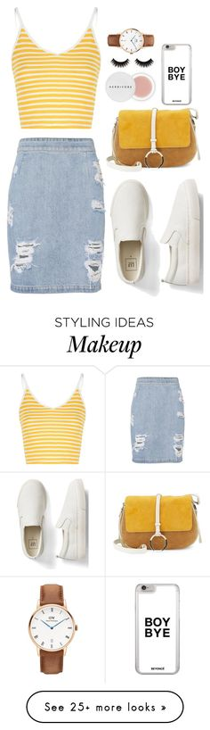 """Comfy Yellow (Eleanor Calder Inspired)"" by abigailrblanco on Polyvore featuring IRO, Gap, Glamorous, Halston Heritage, Herbivore and Daniel Wellington"