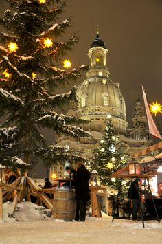 Neumarkt Christmas market, in Dresden: