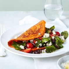 Tomaten-Bulgur-Pfannkuchen Healthy Summer Recipes, Vegan Recipes Easy, Veggie Recipes, Healthy Snacks, Veggie Food, Vegan Meals, Feta, Le Curry, Tasty