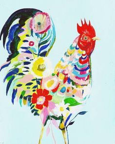 """""""Rooster"""" by Starla Halfmann, Austin //  // Imagekind.com -- Buy stunning fine art prints, framed prints and canvas prints directly from independent working artists and photographers."""