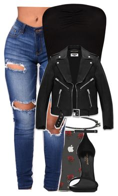 """""""Untitled #5890"""" by rihvnnas ❤ liked on Polyvore featuring Sonix and Yves Saint Laurent"""