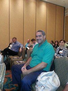 Wayne Scott (Sales & Marketing) in attendance at Eyefortravel 2014.  Great bag Wayne :) (joking)