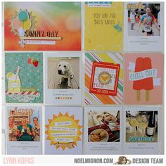Project Life: Week 24|2015. I used @noelmignon Pool Party Daily Diary Kit for this summery page. Photo Pocket Page Design F. #projectlife #pocketscrapbooking @beckyhigginsLLC