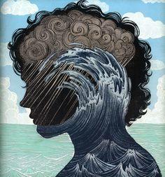 Amazing Yuko Shimizu drawing. Would make a sweet print.