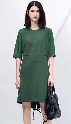 Oversized patchwork chiffon mini dress