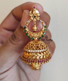 Jewels Online, Diamond Jhumkas, Latest Jewellery, Sea Pearls, Indian Jewelry, Gold Jewelry, Jewelry Design, Stone, Earrings