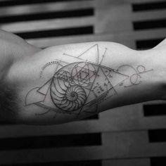 Best Geometric Tattoos And Symbolism Trendy Tattoos, Sexy Tattoos, Body Art Tattoos, Tattoos For Guys, Sleeve Tattoos, Tattos, Cat Tattoos, Small Tattoos, Dna Tattoo