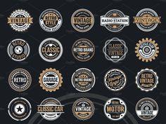 50 Vintage Round Badge & Logo by Logo Templates on Dribbble Round Logo Design, Vintage Logo Design, Badge Template, Logo Templates, Create A Logo Free, Logo Psd, Shop Signage, Hipster Logo, Flower Logo